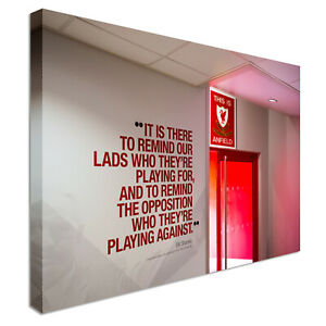Liverpool Anfield Dressing Room Canvas Wall Art Picture Print