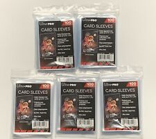 5 X Ultra Pro Sleeves 100 Count Card Sleeves Standard Size Soft Penny