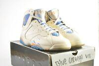 Nike Air Jordan 7 Retro Pearl White Ceramic-Pacific Blue #(304775-281) Size 11