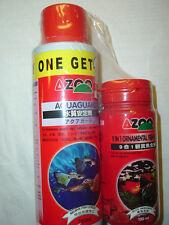 AZOO AQUARIUM AQUAGUARD (240 ML + 120 ML + 9 in 1 ORNAMENTAL FISH FOOD FREE)