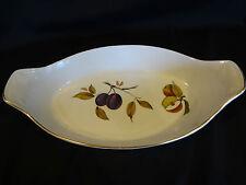 Royal Worcester Evesham w/Gold Trim - Oval Au Gratin Dish