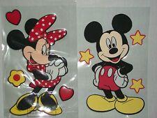"Mickey Minnie Mouse Set Disney Raised Stickers Scrapbooking Crafts 3D 6"" Stars"