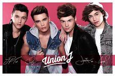 Union J Signatures Pink Maxi Poster LP1712 - 61x91.5cm