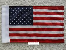 "6""X9"" AMERICAN / U.S.A. FLAG DOUBLE SIDED KNIT NYLON WITH SLEEVE MOTORCYCLE /CAR"