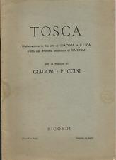 LIRICA_LIBRETTO OPERA_GIACOMO PUCCINI: TOSCA_SARDOU,ILLICA,GIACOSA_RICORDI 1951