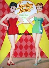 Vintage Uncut 1950's Leading Ladies & Stand-Ins Paper Dolls~#1 Reproduction~Rare
