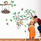 Monkey Tree Removable Wall Stickers Kids Nursery Vinyl Decal Decor Home Art Baby