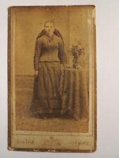 Ried Innkreis - 1891 - stehende Frau im Kleid / CDV