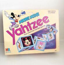 Mickey Mouse Yahtzee 1988 Walt Disney Company Vtg Milton Bradley Board Game