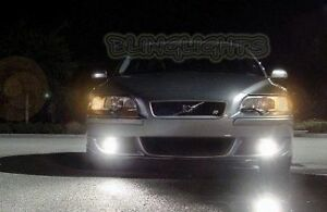 White LED Halo Fog Lamps Driving Light Kit for 2004-2007 Volvo S60R