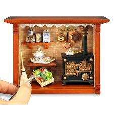 Reutter Porzellan Alte Küche / Old Kitchen Diorama Wandbild Puppenstube 1:12
