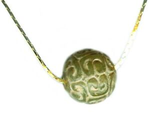 BC100 Ancient China Han Dynasty Carved Jade Pendant Moon Hare Immortality Elixir