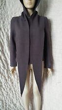 OSKA Purple Zip Hoodie Wool Moessmer Jacket Short Coat With Large Shawl Size 1