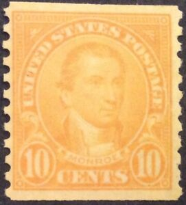 1924 10c Monroe Rotary coil regular Issue, Scott #603, MNH, VF'