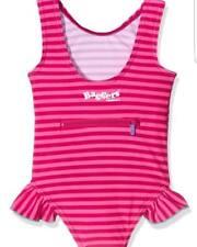 Childrens Swimwear   Girls Swimming Costume Age 5-6   Waterproof Bag   SPF 30
