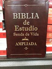 Biblia De Estudió Senda De Vida Ampliada Piel Cafe Con Índice REINA VALERA 1960
