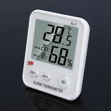 Digital LCD Snooze Weather Alarm Thermometer Hygrometer Humidity Meter Tester