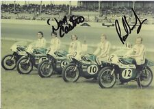 Don Castro and Paul Smart Hand Signed BSB, MotoGP, WSBK Promo Card.