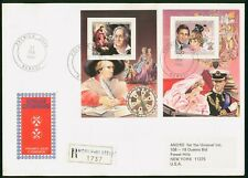 Mayfairstamps Central African Republic 1984 Royal Wedding Souvenir sheets Perf C