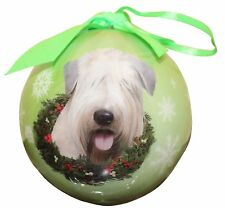 "SOFT COATED WHEATEN TERRIER-Shatterproof Ball Ornament--3""-- by E & S Pets"