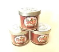 3-Pack of Bath and Body Works Red Velvet Cupcake Scented Candles