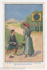 Wood-Milne Rubber Heels Advertising Postcard, B554