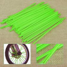 72pcs Green Wheel Spoke Wraps Rim Cover Skins Protector for Dirt Bike Motorcycle