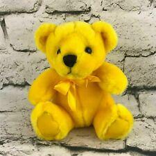 First & Main Rainbow Bear Plush Yellow Ribbon Sitting Stuffed Animal Soft Teddy