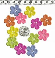 Novelty Button Embellishments Bright Flowers #239