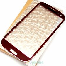 (BOX PACKAGING) OUTER SCREEN GLASS LENS FOR SAMSUNG GALAXY S3 i9300 i747 #RED