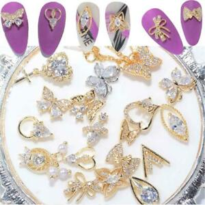 Butterfly Nail Rhinestones Nail Art Decorations Pendant Chain Nail Art Jewelry