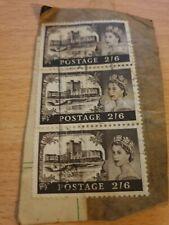 3 x Great Britain 1967 2S/6d Carrickfergus Castle Stamps