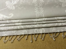 Roman Blind Made With Laura Ashley Josette Dove Grey Fabric 10cm X 6cm Ivory Standard Lining
