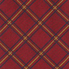 Ralph Lauren Polo Sharp! Red Diamond Plaid Check Silk Tie