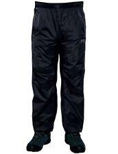Regatta Xert Mens Waterproof Breathable Zip Off Over Trousers Black Size XXL