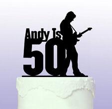 Personalised 50th Guitarist Cake Topper