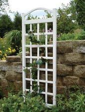 White Vinyl Pvc Decorative Outdoor Decor Patio Yard Plant Support Garden Trellis