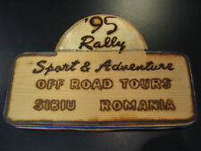 Herinnerings plaquette Rally Sport & Adventure Off Road Tours Sibiu Romania 1995