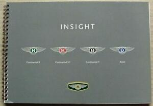 BENTLEY Continental AZURE Car Dealers Product Training Insight Manual 1998