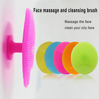 3PCS Silicone Face Cleaning Pad Brush Exfoliating Skin Pore Scrubber Cleanser us