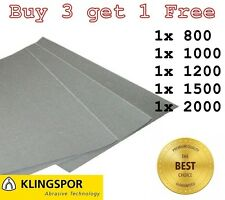 WET AND DRY SANDPAPER KLINGSPOR Assorted grit 800 1000 1200 1500 2000 PACK OF 5