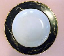 MIKASA  SALAD/SOUP Plate TRAVERTINE BLACK L2107 Vintage USED