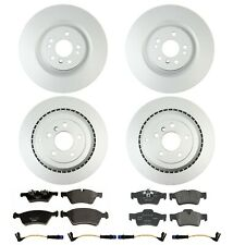 For MB W164 GL450 GL320 GL550 Front & Rear Disc Brake Rotors & Pads Sensors Kit