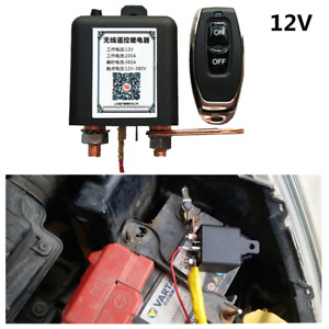 200A Battery Lsolator Disconnect Switch Power Kill Cut Off w/Remote For Car SUV