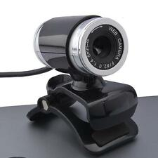 New USB2.0 12MP HD Camera Web Cam 360 Degree with Mic Clip-on for PC Skype US