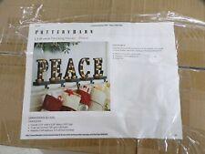 Pottery Barn Lit Bronze Christmas Stocking Holder Peace Read #7489