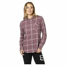 Fox Racing Roost Flannel Womens Shirt Long Sleeve - Purple All Sizes
