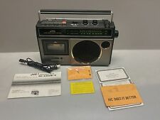 JVC RC-232JW Vintage 1970's AM FM Cass Player Recorder Boombox with Warranty