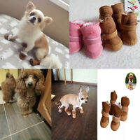 Winter Warm Shoes 4Pcs/Set Cute Dog Boots Snow Walking Puppy Sneakers Supplies A