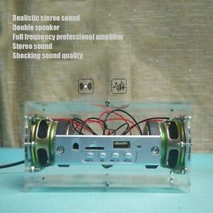DIY Electronic 3W Speaker Kit with Transparent Shell Mini Bluetooth 5.0 Speaker